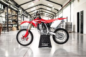 The Honda 150 CRF has its Beringer brake kit